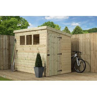 4 Ft. W X 6 Ft. D Shiplap Pent Wooden Shed By WFX Utility