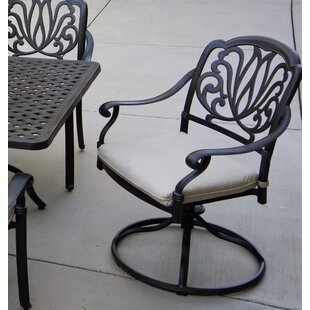 Coshocton Patio Swivel Rocker Chair with Cushion (Set of 4)