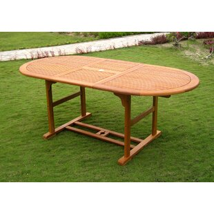 Rivas Oval Dining Table by Rosecliff Heights New Design