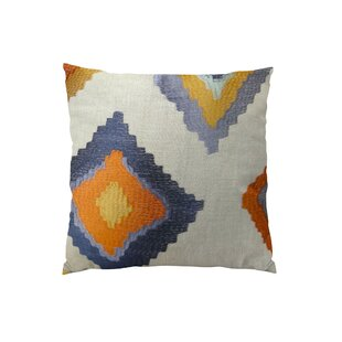 Native Trail Cayenne Handmade Linen Throw Pillow