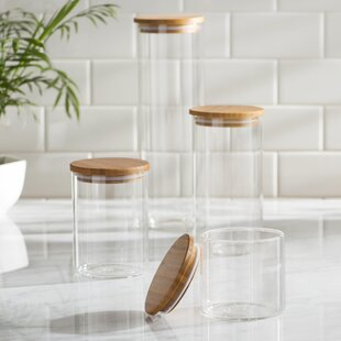4 Piece Storage Jar Set