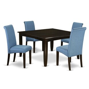 Lexie Square Kitchen Table 5 Piece Extendable Solid Wood Dining Set by Winston Porter
