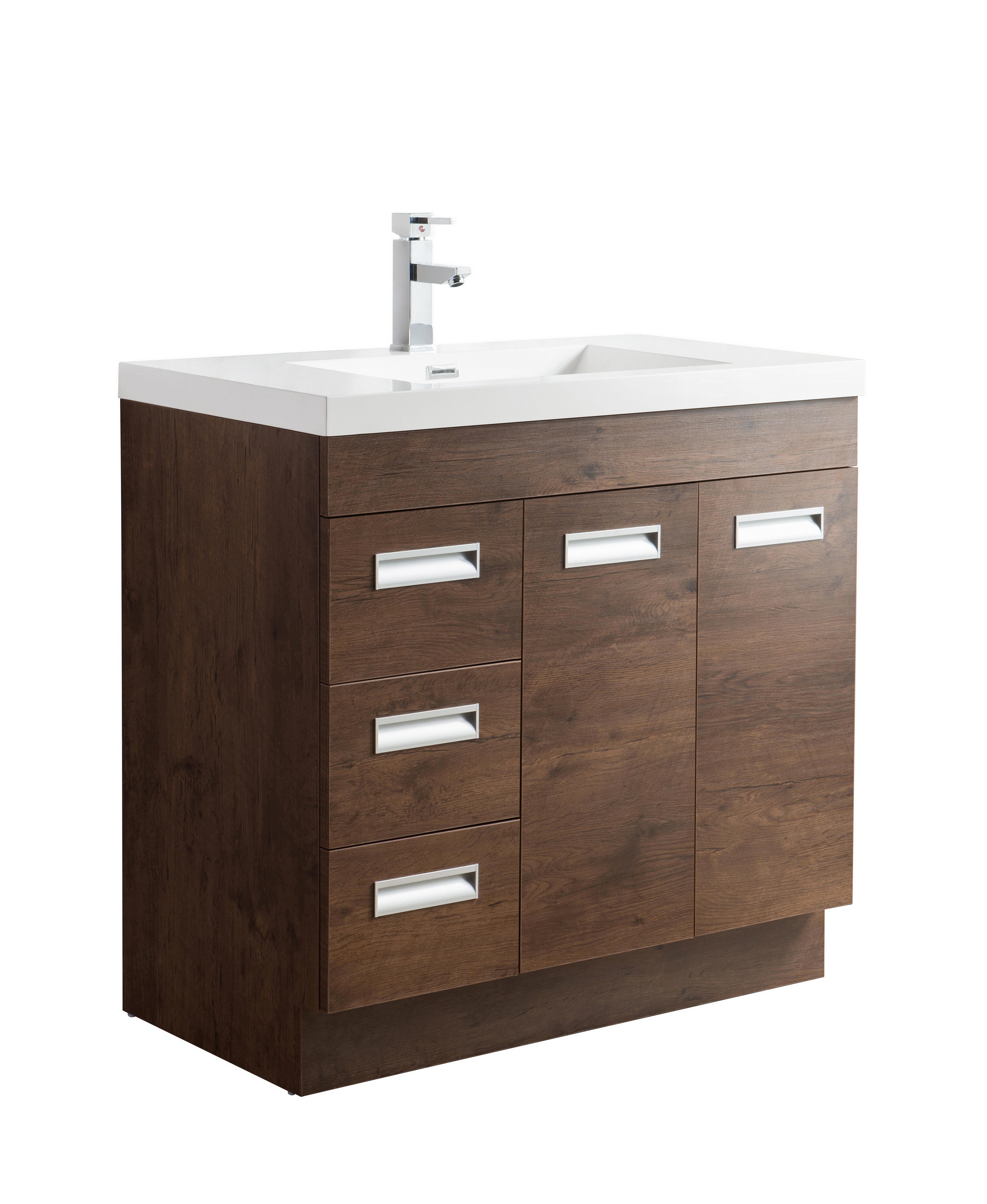 Orren Ellis Pete 35 Single Bathroom Vanity Set Wayfair