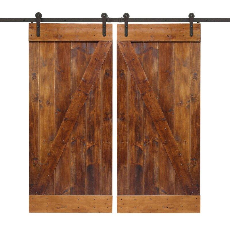 Calhome Z Bar Solid Wood Panelled Slab Interior Door Reviews Wayfair