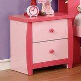 Aras 2 - Drawer Nightstand in Pink by Harriet Bee