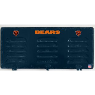 NFL 3 Hook Metal Locker Coat Rack