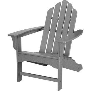 Galaviz Contoured Plastic Adirondack Chair by August Grove