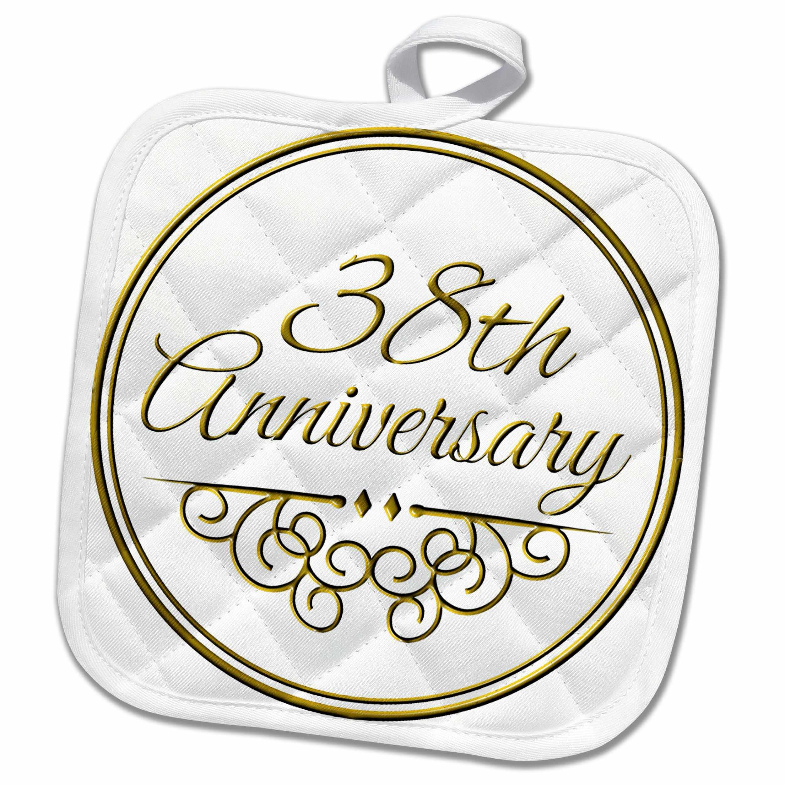 3dRose 38th Anniversary Gift Text for Celebrating Wedding Anniversaries 38 Years Married Together Pot Holder | Wayfair  sc 1 st  Wayfair & 3dRose 38th Anniversary Gift Text for Celebrating Wedding ...