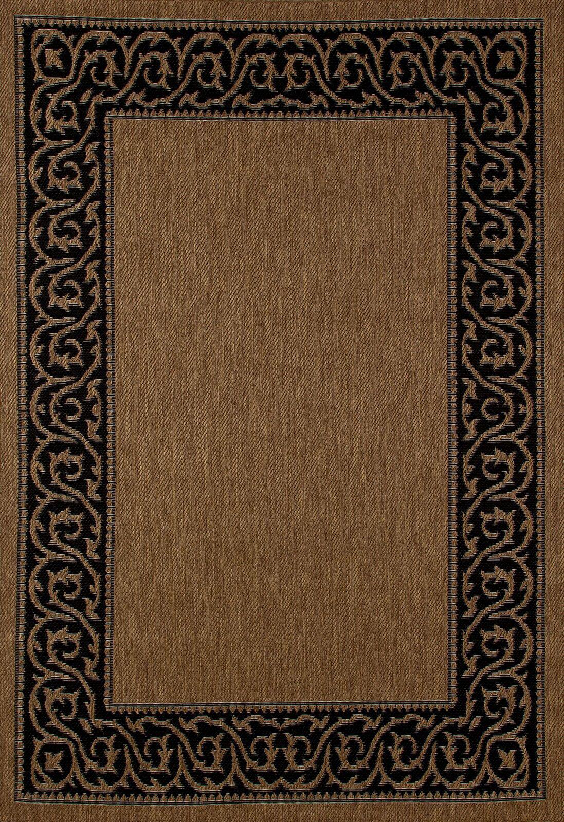 Fleur De Lis Living Beaminster Brown Black Indoor Outdoor