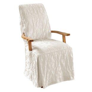 Matelasse Damask T-Cushion Armchair Slipcover