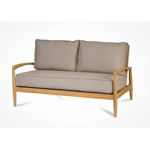 Cottman Teak Loveseat with Sunbrella Cushions