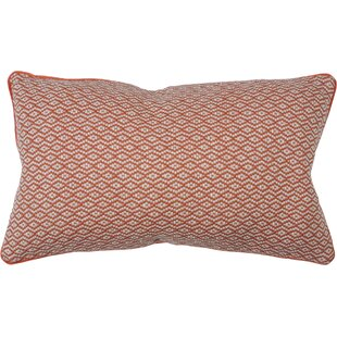 Woven Diamond 100% Cotton Lumbar Pillow