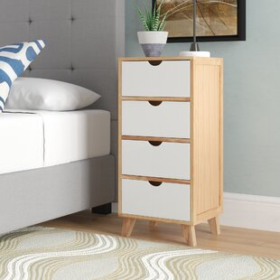 Latitude Run Kaplan 4 Drawer Nightstand