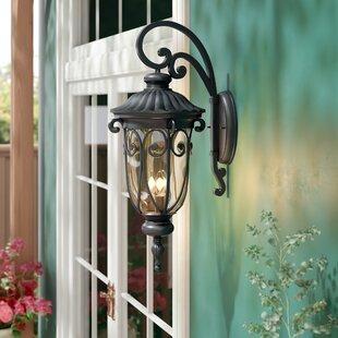 Lininger 3-Light LED Outdoor Wall Lantern
