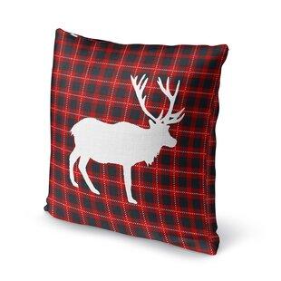 Deer Plaid Throw Pillow