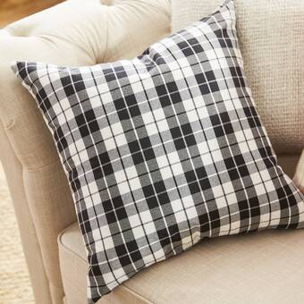 Gracie Oaks Goodfellow Plaid Throw Pillow Wayfair