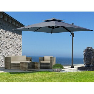 Quick Star 3m Square Cantilever Parasol By Quick-Star