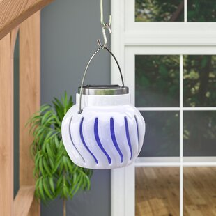 Ebern Designs Primo Solar Powered Bug Zapper 1-Light Outdoor Pendant