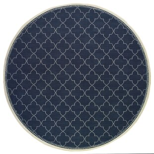 French Casual Navy Indoor/Outdoor Area Rug