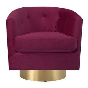 Huang Swivel Barrel Chair by Mercer41 New