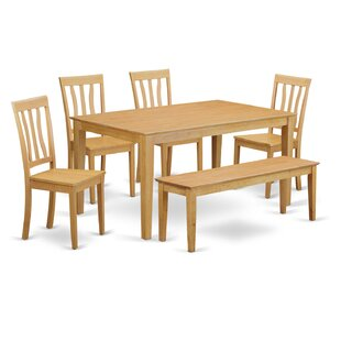 Capri 6 Piece Dining Set Wooden Importers