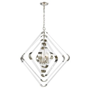 Ervine 5-Light Geometric Chandelier by Mercer41