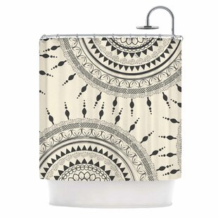 Famenxt Boho Magic Mandala Single Shower Curtain