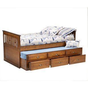Affordable Twin Mate's Bed with Trundle and Underbed Storage by Bernards