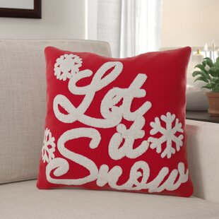 Sharpe 'Let It Snow' Throw Pillow