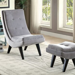 Everly Quinn Avianna Transitional Lounge Chair and Ottoman