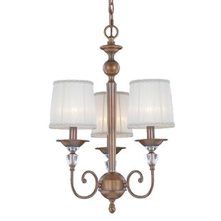 Locksley 3-Light Shaded Chandelier by Eurofase