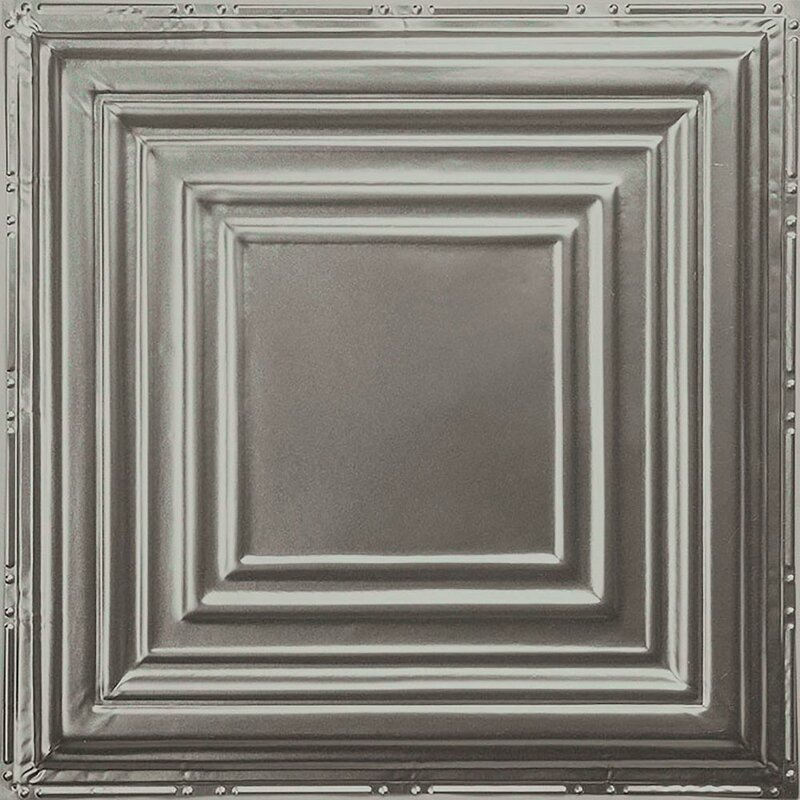American Tin Ceilings 2 Ft X 2 Ft Nail Up Tin Ceiling Tile In Silver Unfinished No Coating Wayfair