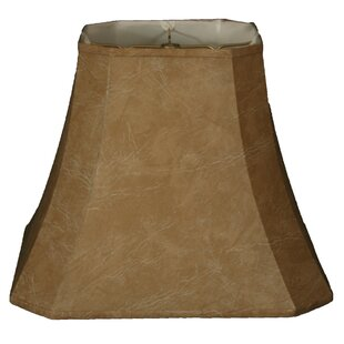 16 Faux Leather Square Cut Corner Bell Lamp Shade