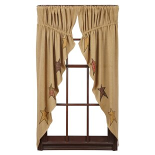 lilian geometric sheer rod pocket curtain panels set of 2