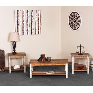 Deeter Farmhouse 3 Piece Coffee Table Set