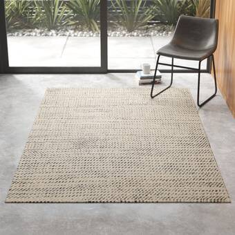 Caper Geometric Hand Tufted Wool Ivory Area Rug Reviews Allmodern