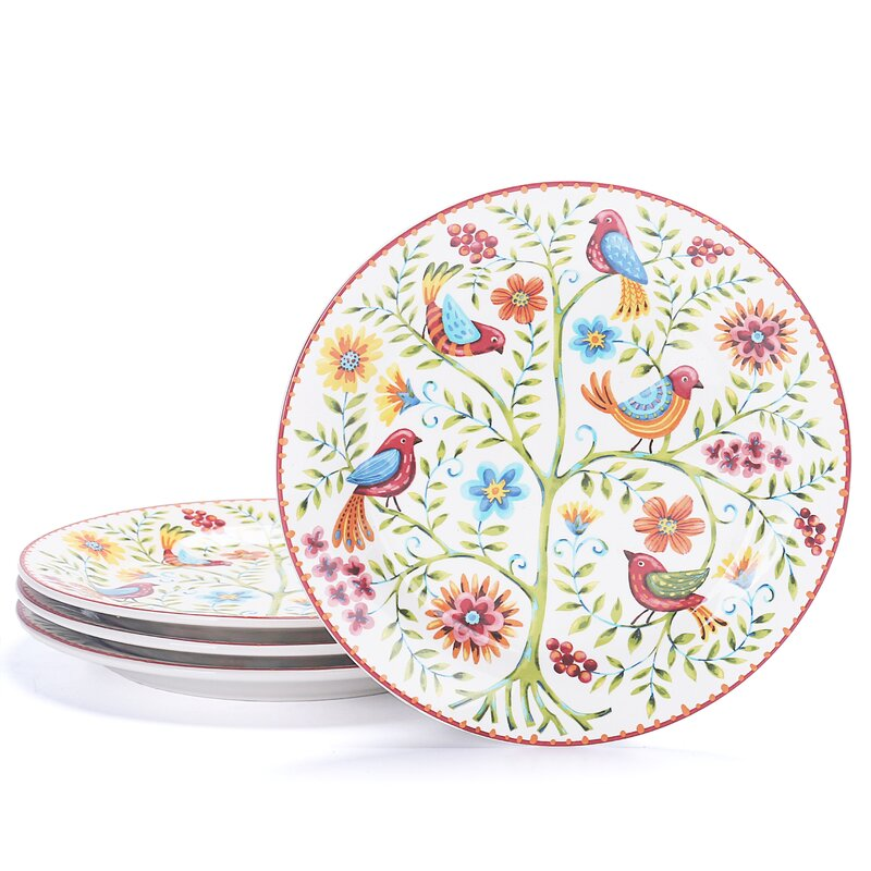 """Clyman Spring Bird 8.8"""" Salad or Dessert Plate Set"""