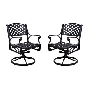 Amelio Swivel Patio Dining Chair (Set of 2)