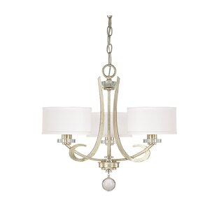 Inexpensive Brownesville 3-Light Shaded Chandelier By Rosdorf Park