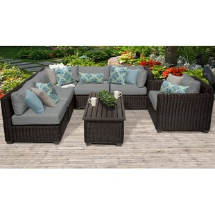 Rosecliff Heights Eldredge 7 Piece Sectional Set with Cushions
