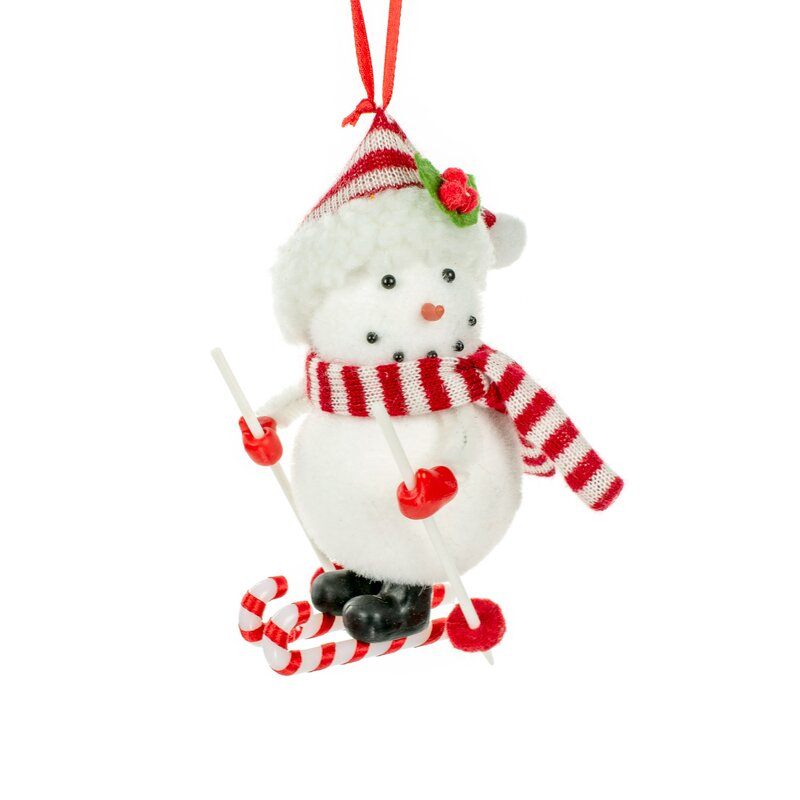 Jj S Holiday Gifts Ltd Skiing Snowman Hanging Figurine Ornament Wayfair