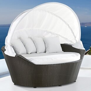 Ines Beach Patio Daybed with Cushions by Home & Haus