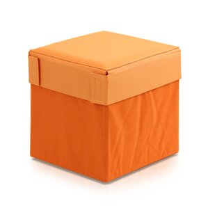 Oxford Multipurpose Foldable Storage Stool Ottoman by Furinno