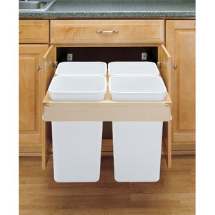 Top Mount 6.75 Gallon Pull Out/Under Counter Pull Out/Under Counter Trash Can by Rev-A-Shelf