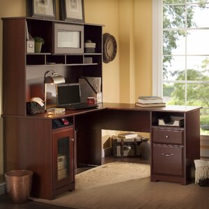 Toledo L-Shaped Executive Desk with Hutch