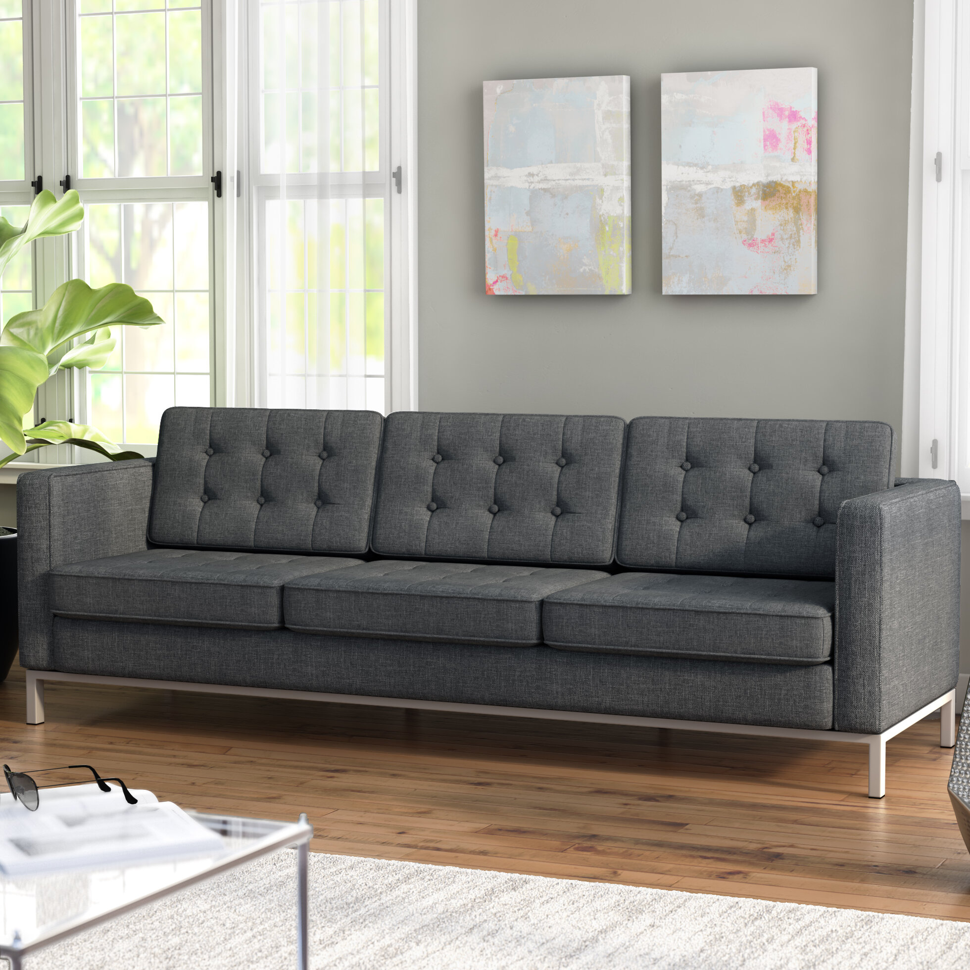 Superb Modern Orren Ellis Sofas Couches Allmodern Home Interior And Landscaping Mentranervesignezvosmurscom