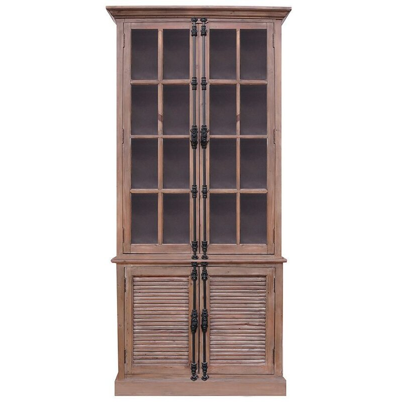 Douthett Glass Casement French China Cabinet