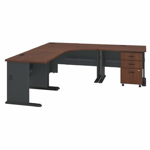 Buy clear Series A L-Shape Executive Desk By Bush Business Furniture