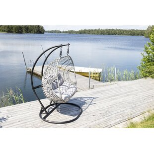 Review Rey Double Hanging Chair With Stand