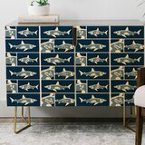 Raven Jumpo Shark X Ray Credenza by East Urban Home